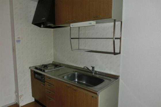 キッチン2口ガスコンロ付のシステムキッチン