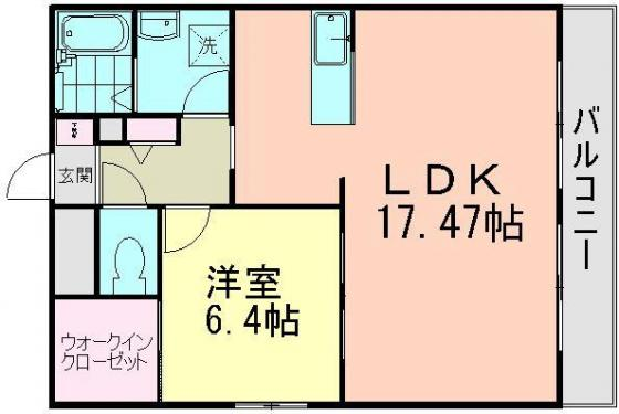 間取り1LDK(57,10㎡)