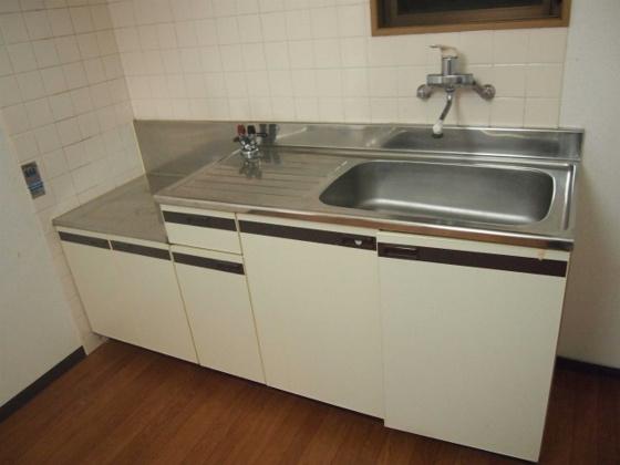 キッチン作業スペースの有るキッチンです。