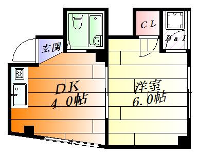 間取り使いやすいシンプルな1DK