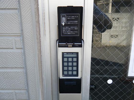 セキュリティ入口はデジタルロックになってます
