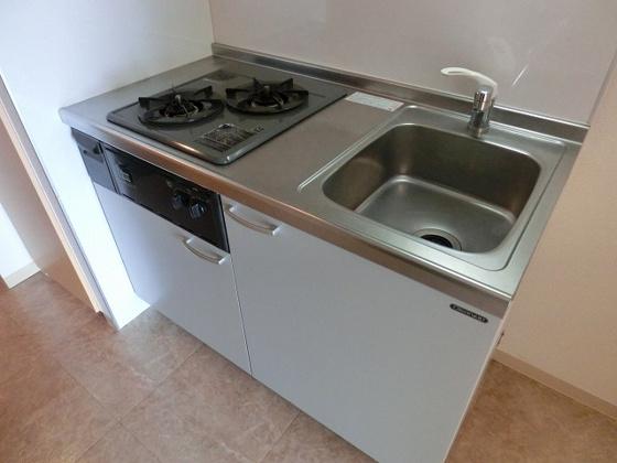 キッチン2口ガスコンロ付キッチン