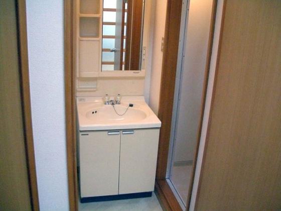 独立洗面台ガスキッチン2口設置可