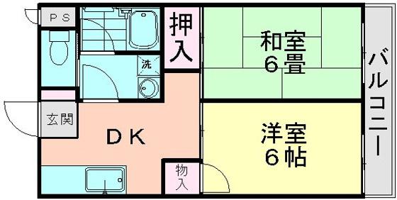 間取り和室と洋室は振り分けです
