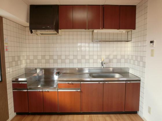 キッチン2口ガスコンロ設置可(都市ガス)のキッチン