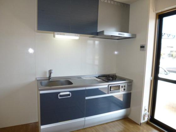 キッチン2口ガスコンロ付きシステムキッチン