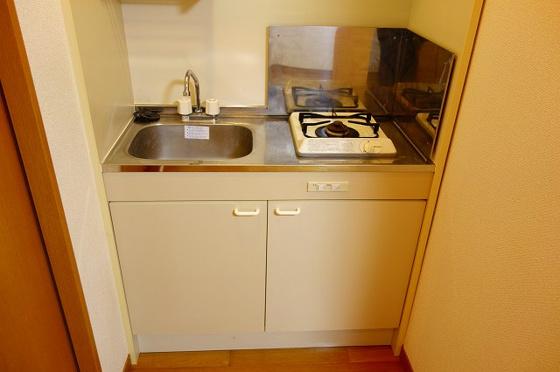 キッチン1口ガスコンロ付のキッチン
