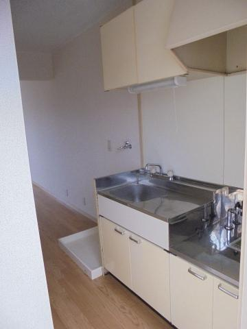 キッチンサンコート浜竹22のキッチン ガスコンロ設置可