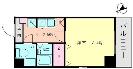 間取り広めの洋室7.4帖