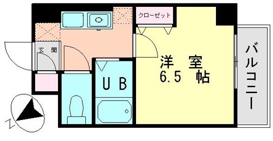 間取り室内写真は501号室です