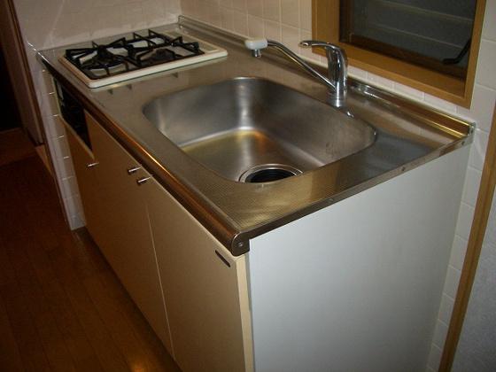 キッチン2口ガスコンロのシステムキッチン