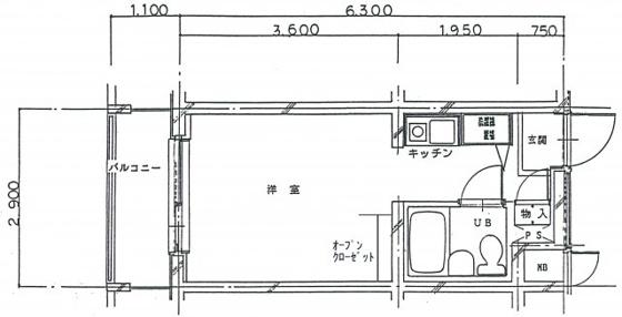 間取りメディアシティ駒沢大学3階