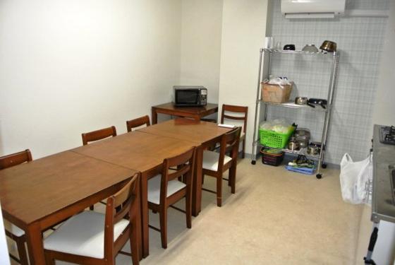 キッチン共同スペースの食堂です。