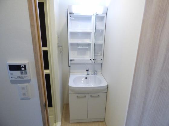 洗面所シャンプードレッサー完備です。
