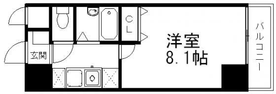 間取り8.1帖の洋室