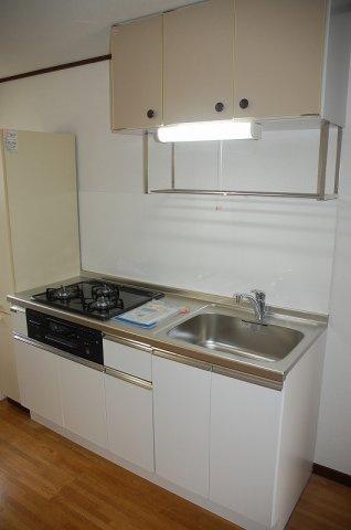 キッチン2口ガスシステムキッチン新品