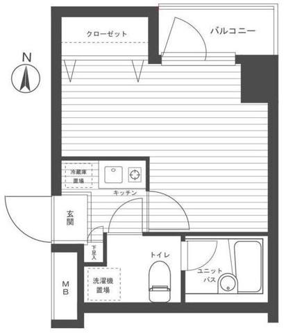 間取りプレール・ドゥーク新宿曙橋