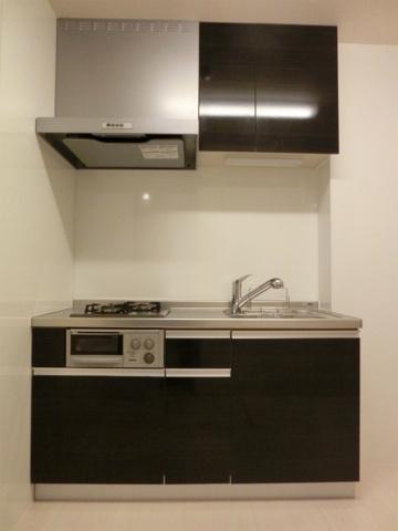 キッチン2口ガスコンロにグリル付のシステムキッチン