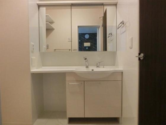 独立洗面台ゆったりスペースをとった洗髪洗面化粧台(シャンプードレッサー)