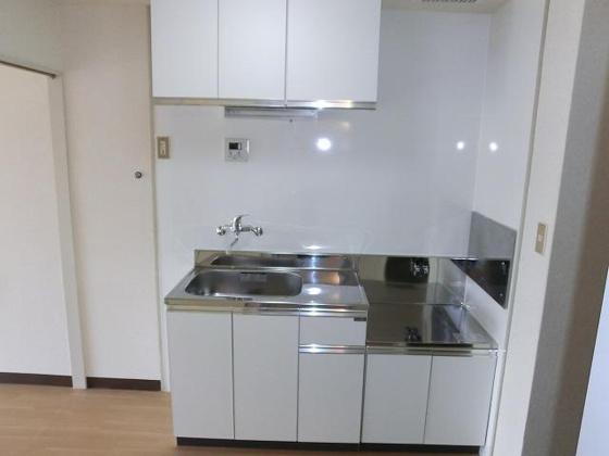 キッチン2口ガスコンロ設置可のキッチン(都市ガス)