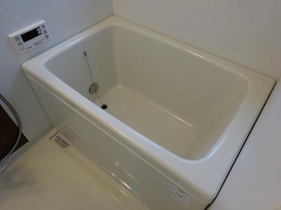 浴室追炊き機能付の浴室