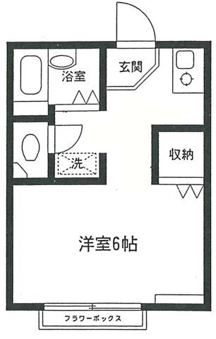 間取りテラスハウス早稲田Ⅱ