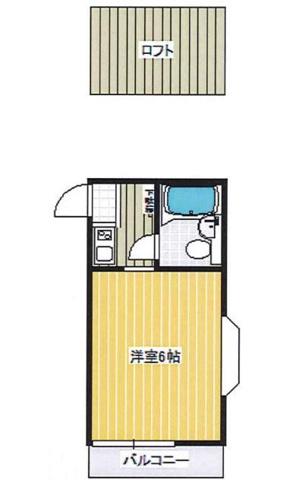 間取り中部屋は出窓はありません。