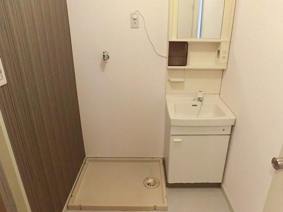 洗面所独立洗面台・洗濯機置き場