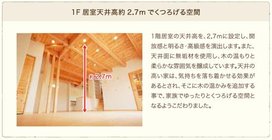 その他~ 1階居室天井高2.7mでくつろげる空間 ~