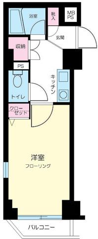 間取りダイホープラザ高田馬場Ⅱ