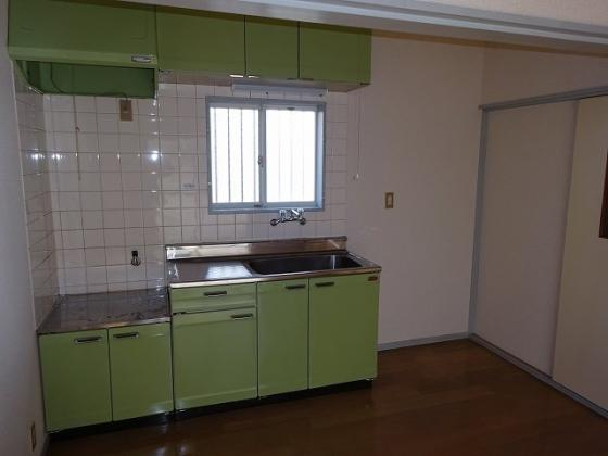 キッチン2口ガスコンロ設置可のキッチン