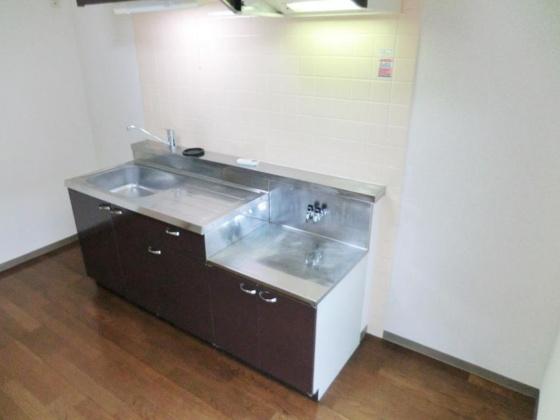 キッチン☆2口ガスコンロ設置可・都市ガス仕様・別号室の参考写真です。☆