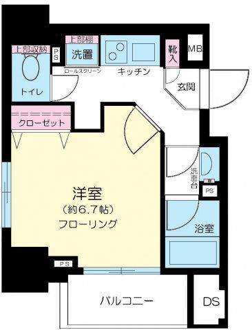 間取りコンシェリア新宿North-One
