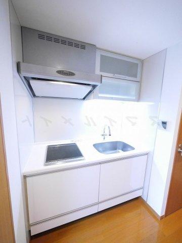 キッチンお掃除らくらく2口IHクッキングヒーター付きシステムキッチン