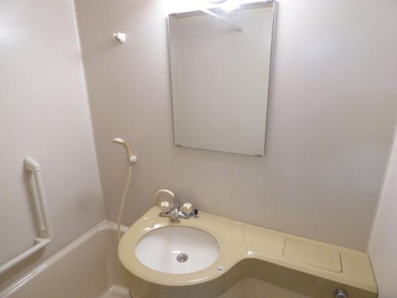 洗面所かわいい洗面台が付いています。