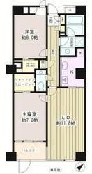 間取り各居室が充分な広さが有り、ウォークインクローゼットもそれぞれについてます。 インナーバルコニーになっているのも特徴。