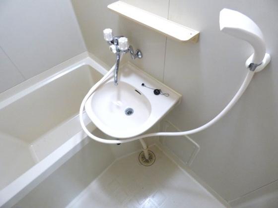 洗面所シンプルな洗面台も付いています。