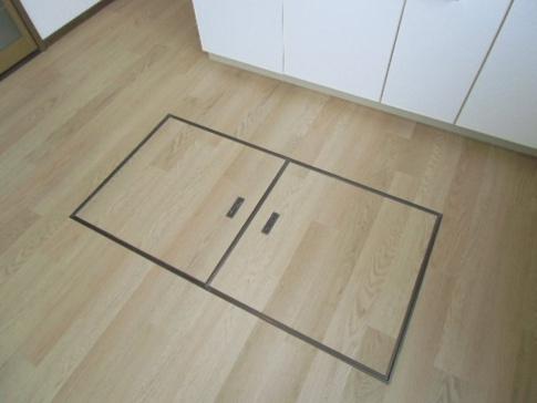 収納キッチン床下収納