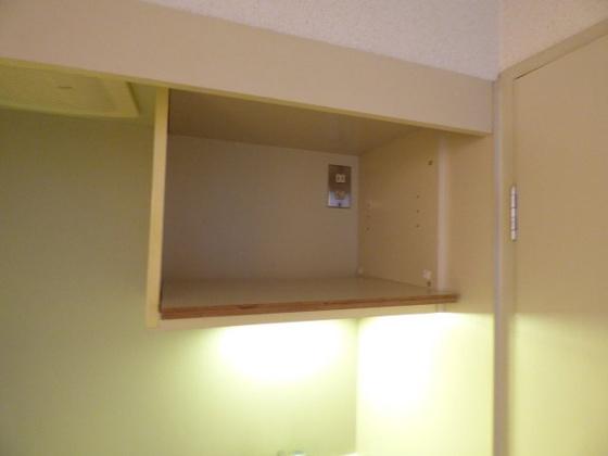 その他キッチン上部の便利な収納。