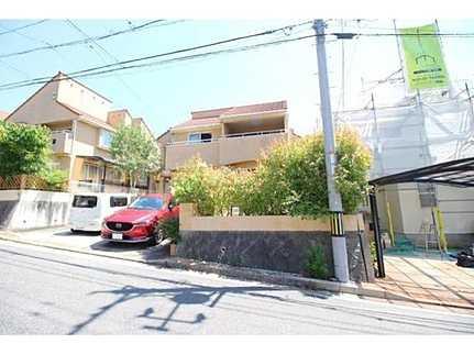 外観閑静な住宅街・駐車並列2台可 敷地面積広々53坪