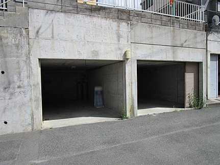 駐車場掘込車庫駐車2台可