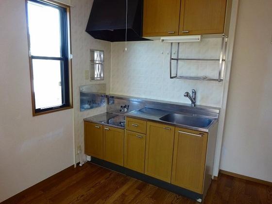 キッチン2口ガスコンロ設置可能なキッチン