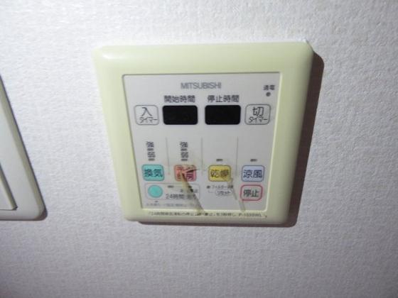 その他雨の日に便利な浴室乾燥機。
