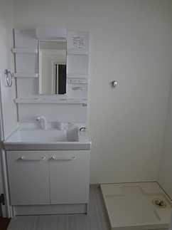 洗面所洗面化粧台もリフォーム済です