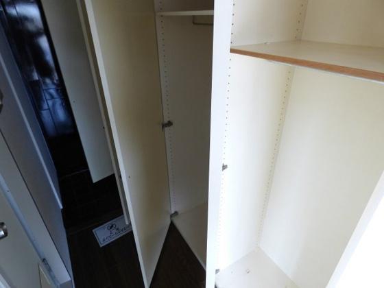 収納豊富な収納でお部屋もスッキリ。