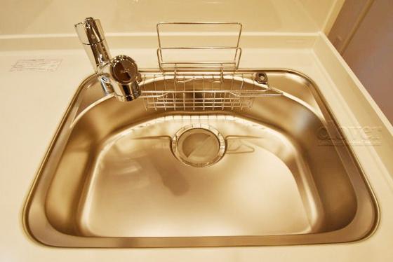 内装シンク 浄水器内蔵水栓