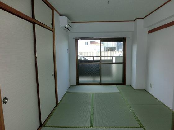 和室6畳の和室 エアコン付です