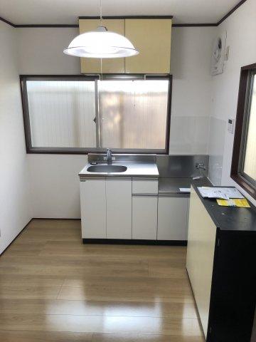 キッチン新規設置、2口ガスコンロ設置可