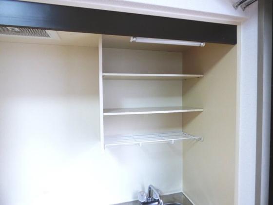 その他キッチン上部には便利な収納棚。