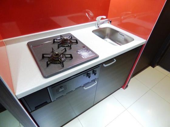 キッチン機能的なシステムキッチン。